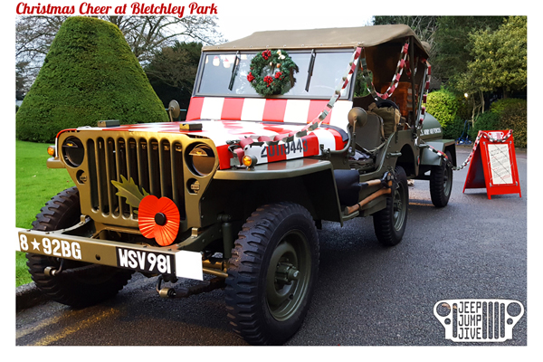 Bletchley Park's Christmas Cheer with Jeep Jump Jive