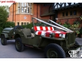 Classic WW2 military wedding car